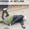 Person in Notlage